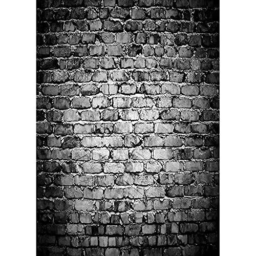 Fondo de fotografía de Pared de ladrillo Vintage Personalizado de Vinilo Fondo de fotografía de Suelo de Madera Estudio Prop A8 2,1x1,5 m