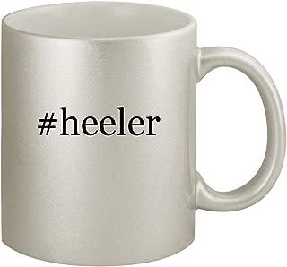 #heeler - Ceramic Hashtag 11oz Silver Coffee Mug, Silver