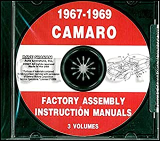 A MUST FOR OWNERS, MECHANICS AND RESTORERS - THE 1967 1968 1969 CHEVY CAMARO FACTORY ASSEMBLY INSTRUCTION MANUAL CD. INCLUDES: RS, SS and Z/28. CHEVROLET 67 68 69
