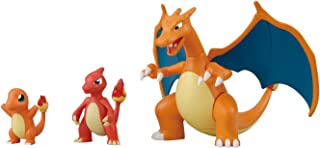 Pokemon Evolution Plastic Modeling Kit Charmander Charmeleon Charizard Plamo Figure Toy Lizardon Bandai (Japanese Import)