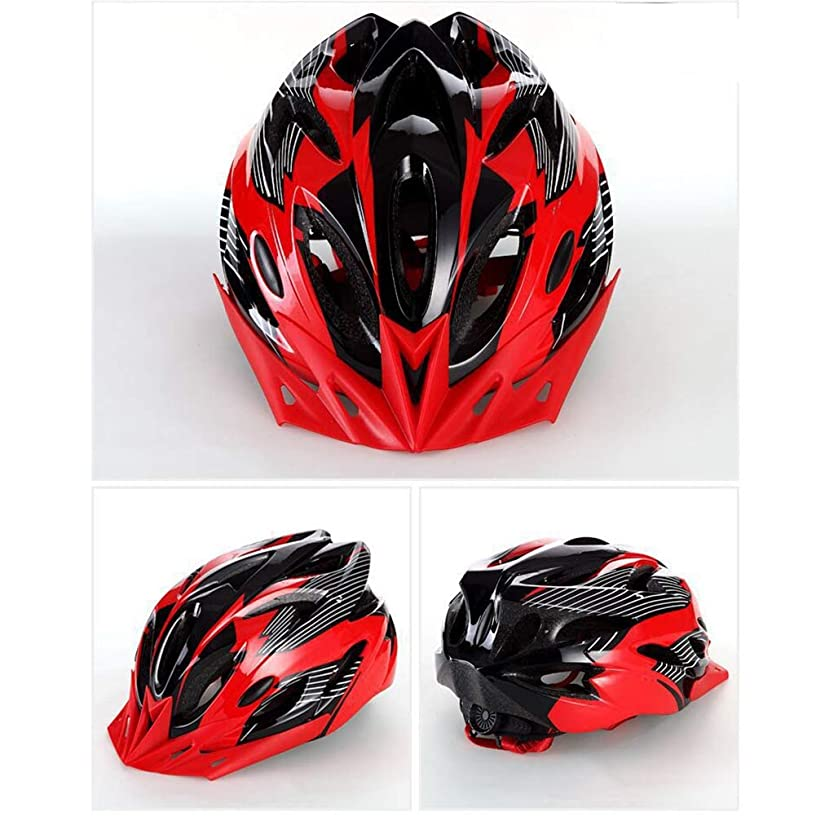 TTHU Off-Road Bicycle Helmet Cycling Helmet, Head Circumference 56-63Cm, Suitable for Cycling Outdoor Riding BMX Cycling,Red
