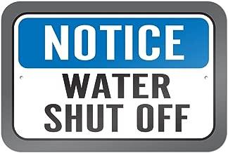 Notice Water Shut Off 9