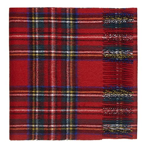100% Lambswool Tartan Scarf by Shepherds Land, Royal Stewart-One Size