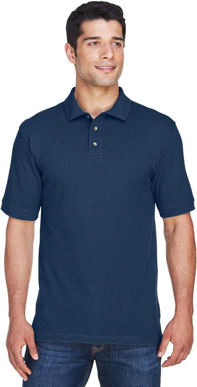 Harriton Tall 6 oz. Ringspun Cotton Piqué Short-Sleeve Polo 3XT Navy