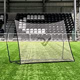 RapidFire Filet à Rebond Pro pour Entraînements de Football – 2,4m x 1,8m | Filet Rebondisseur de Foot [avec Sac de Transport]