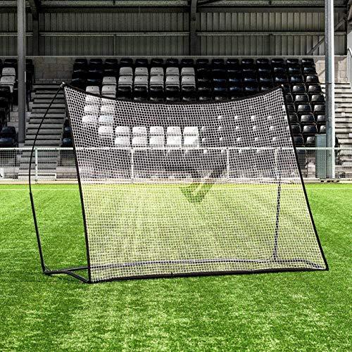 RapidFire Filet à Rebond Pro pour Entraînements de Football – 2,4m x 1,8m   Filet Rebondisseur de Foot [avec Sac de Transport]