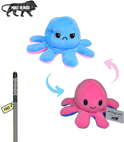 Caaju Emotional sad and Happy Octopus Mini Plush - Stuffed Animal Toy | Show Your Mood Without Saying a Word (Assorte...