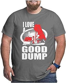 Ansjliea I Love A Good Dump Men Plus Size Tee Short Sleeve