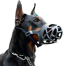Dog Muzzle, Breathable Basket Muzzles for Small, Medium, Large and X-Large Dogs, Anti-Biting, Barking and Chewing Dog Mouth Cover