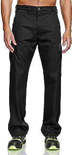 Lee Cooper Men's Cargo Trousers - Black/Grey - 32W/29L (Short)