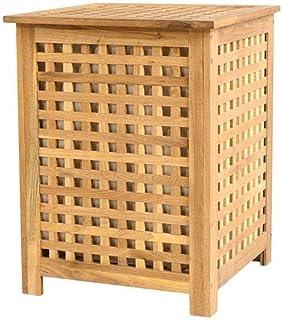 DNSJB Boîte en Bois Massif avec Couvercle Boîte de Rangement de Finition Peut Assieds-boîte de Rangement de Stockage Tabou...