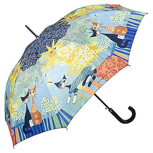 VON LILIENFELD Regenschirm Rosina Wachtmeister Dolce Vita Automatik Stabil Damen Kunst Motiv Katze