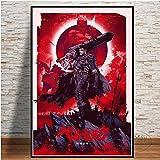 ganlanshu Anime pósters e Impresiones Lienzo Pintura Sala de Estar decoración de películas Artista decoración del hogar,Pintura sin marco-50X75cm