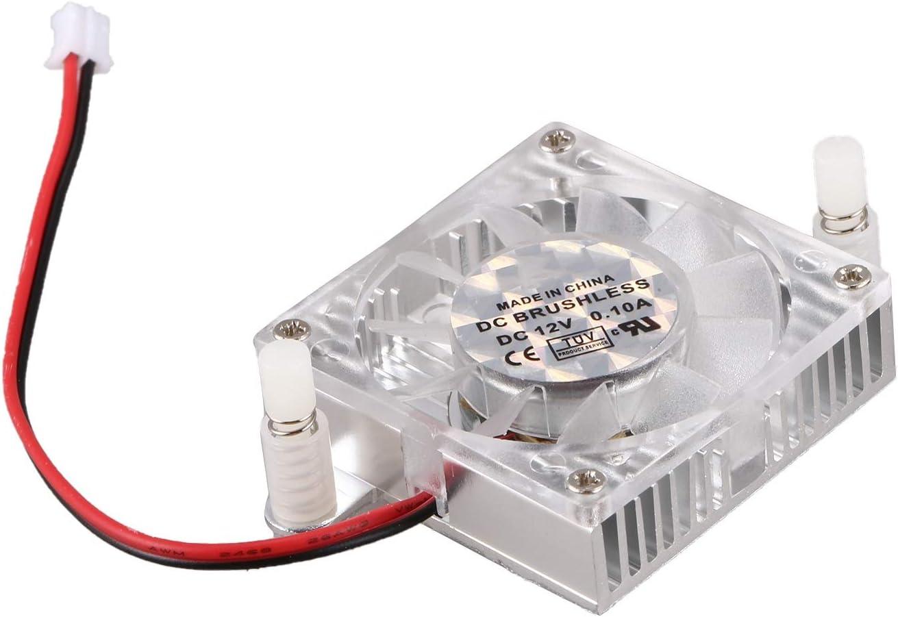 ACAMPTAR 40 x 40 x 12mm Enfriador de GPU Tarjeta VGA Grafico de Video de 2 Pines Ventilador de enfriamiento Disipador de Calor