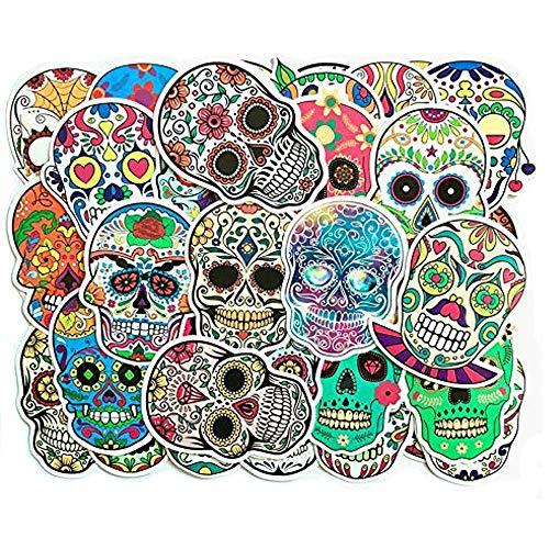 ZYTC 50 stuks/pakket suiker schedel sticker aftrekplaatjes vinyl auto sticker motorfiets bagage hippie sticker voor laptop MacBook graffitipatches skateboard snowboar waterdicht