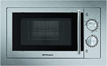 Orbegozo MIG2033 integrable Full INOX, 20 litros de Capacidad, 9 Niveles, Potencia 800 W microondas y 1000 W Grill, Acero, Gris