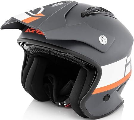 Acerbis Jet Helm Luft Grau Weiß L Auto