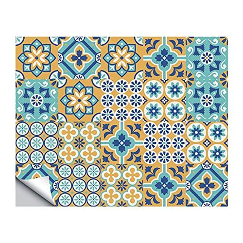 QOXEFPJZ cenefa adhesiva cocina 24pcs Funlife Autoadhesivo Mosaico blanco Azulejos Pegatinas Para Cuarto De Cuarto De Cocina Decoración De Cocina, Azulejos Impermeables Calcomanía Etiqueta Etiqueta 10