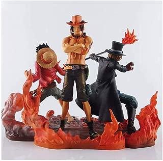 YYZZ One Piece Trois Frères Figurine Luffy   Ace Sabo Anime Figma 5 Cadeau créatif de 5 Pouces