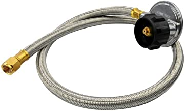 Onlyfire 36-Inch Stainless Braided Low Pressure Propane Hose and Regulator Connection Kit, 3/8 Inch Flare Swivel Fitting