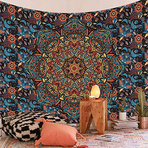 hdbklhjxk Tapestry Boho Mandala Wall Hanging Beach Throw Rug Blanket Camping Tent Travel Mattress Bohemian Sleeping Pad Tapestries 150X200CM