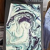 Plaid 3D Imprimée De Couverture Polaire Douce Flanelle Graffiti en Marbre Émeraude Réversibles Couverture - Moelleuse Chaud en Hiver Couverture pour Canapé Salon 130x150 cm