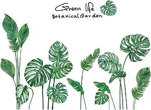 Amaonm Creative Girls Nursery Room Wall Decoration art Decor Decals 3D DIY Green Plants Fresh Leaves Peel Stick Wall Stick...
