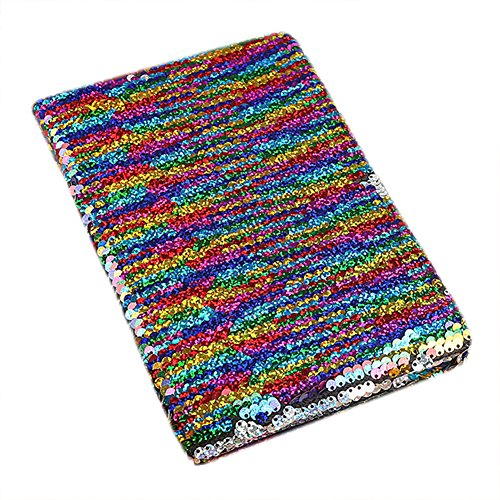 Knuffel Zeemeermin Magic Pailletten Notebook Journal Omkeerbare Pailletten Kladblok Regenboog Reisdagboek Schetsboek, 78 Vellen one size Meerkleurig