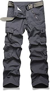 AKARMY Women's Casual Loose Fit Camouflage Multi Pockets Cargo Pants