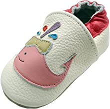 iEvolve Baby Leather Shoes Soft First Walker Shoes Crib Shoes Moccasins for Toddlers