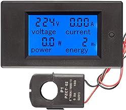 AUTENS AC 100A 80-260V Voltage Ammeter Meter Multimeter with LCD Display Tester Power Energy Watt Voltmeter 100A Kwh Meter...