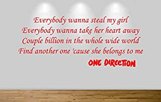 One Direction Wall Sticker Steal My Girl Lyric Decal 9