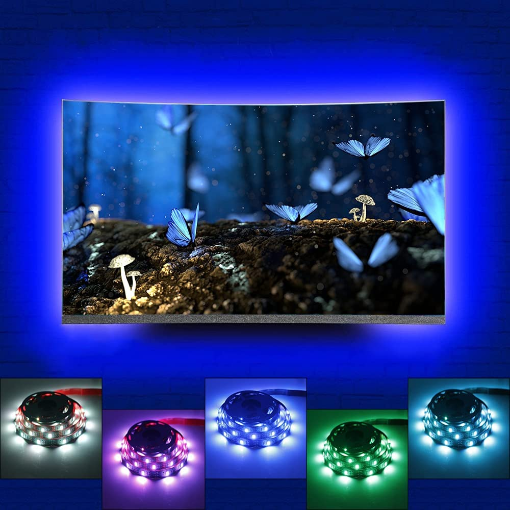 LED TV Backlight kit with RF Remote for Spring 4 years warranty new work Lights 9.9ft Strip
