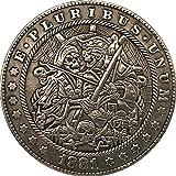 1881 Pirata Cráneo Guerra Recuerdos Monedas Coleccionables...