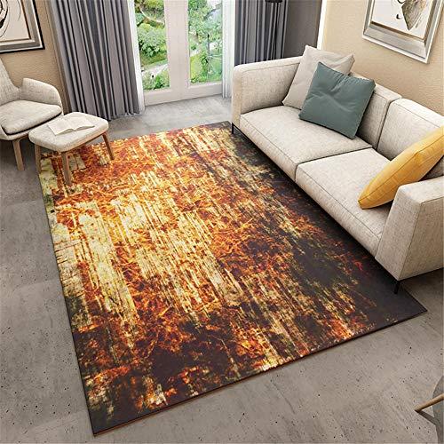 AU-SHTANG Alfombra Ducha Antideslizante Mesa de Centro de fácil Cuidado y Resistente al Desgaste, cómoda Alfombra alfombras de baños -Amarillo_El 160x230cm