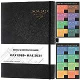 2020 2021 Agenda - Diario 2020 2021 A4 Semana, papel grueso, bolsillo interior, 210x297 mm, negro