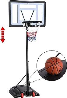 Topeakmart Kids Basketball Frame Outdoor Standard Basketball Stand Liftable Mobile Training Basketball Hoop System