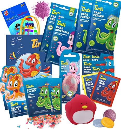 Tinti Planschtüte XL mit Dino-Ei für Jungs oder Feen-Ei für Mädchen (Mädchen)