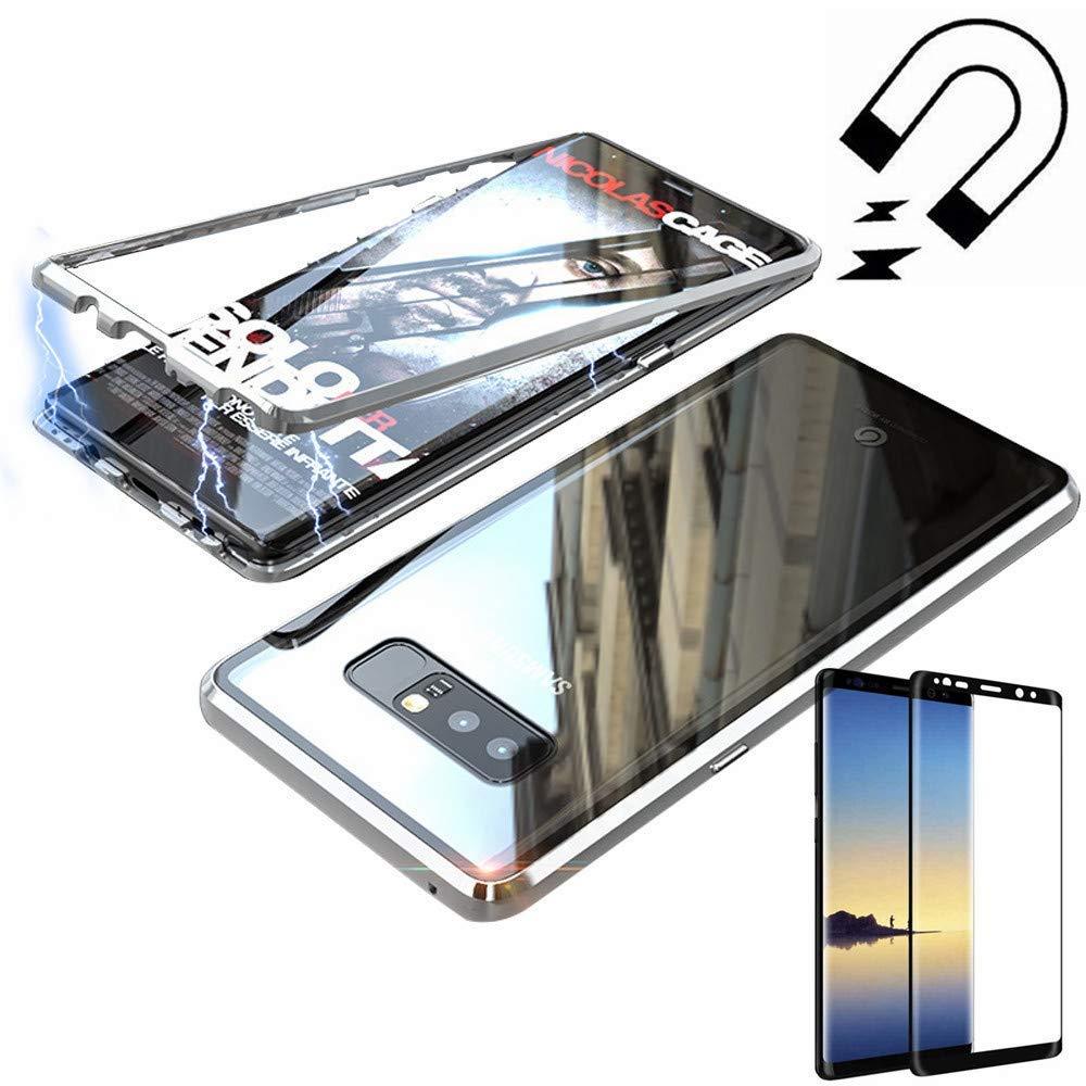 Gypsophilaa Funda Samsung Galaxy Note 8, Magnetic Adsorption Technology Marco de Metal Templado de Nuevo Case, Slim Fit Ultra Carcasa de Peso Ligero, para Samsung Galaxy Note 8 Cover Case: Amazon.es: Electrónica