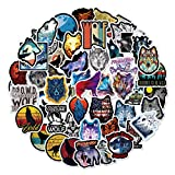Water Bottle Wind Wolf Stickers 50pcs Lovely Wolf Boy and Girl Stickers Laptop Water Bottle Luggage Snowboard Bicycle Skateboard Decal for Kids Teens Waterproof Stickers