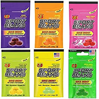 Jelly Belly Sport Beans, Energizing Variety Pack, 1-Ounce Bags (12 Count) - 2 of each flavor