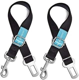 Duke & Dixie Dog Seat Belt Pet Dog Cat Car Seatbelt Safety Tether - 2 Pack - Adjustable Harness Belts Pet Leash - Heavy Du...