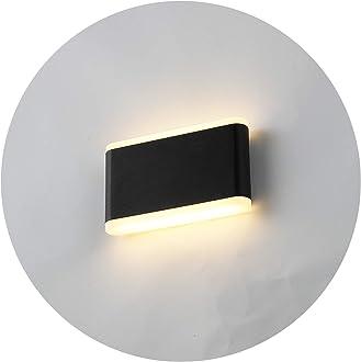 Appliques Murales LED Int/érieur cristal decoratif Luminaire Mural Moderne en Aluminum /Éclairage pour Chambre Escalier Salon Bureau 840LM 290 mm Blanc chaud Topmo-plus 2 pi/èces 12W Applique murale