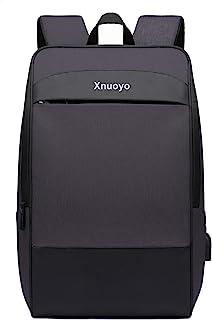 Xnuoyo 17.3 Pulgadas Mochila Hombre, Impermeable Mochila con Puerto de USB,Mochila de Gran Capacidad para Hombre Mujer Oficina Trabajo Diario Negocio Multifuncional (Negro)