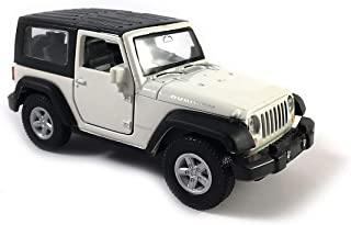 Jeep Wrangler Rubicon Hard Top Exploration Diecast Model Toy Car in White