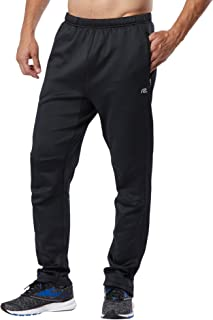 R-Gear Men's Cold Weather Athletic Workout Pants with Zippers at Pockets and Ankles   Warmer Performer