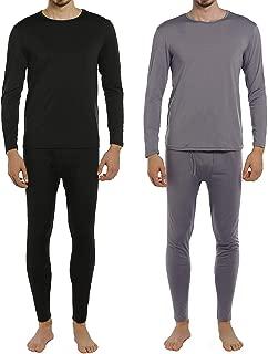Men's Thermal Underwear Set Fleece Lined Long Johns Winter Base Layer Top & Bottom 2 Sets for Men