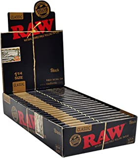 raw black papers box