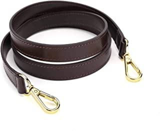 Oulario 20mm Coated Dark Brown Leather Cross Body Strap to Compatible Damier Ebene Speedy B Alma (Dark Brown 44'')