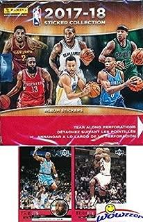 2017/18 Panini NBA Basketball MASSIVE Factory Sealed Sticker Box with 50 Packs & 350 Brand New MINT Stickers of all your Favorite NBA Stars! PLUS BONUS (2) VINTAGE Michael Jordan Bulls Cards! WOWZZER!